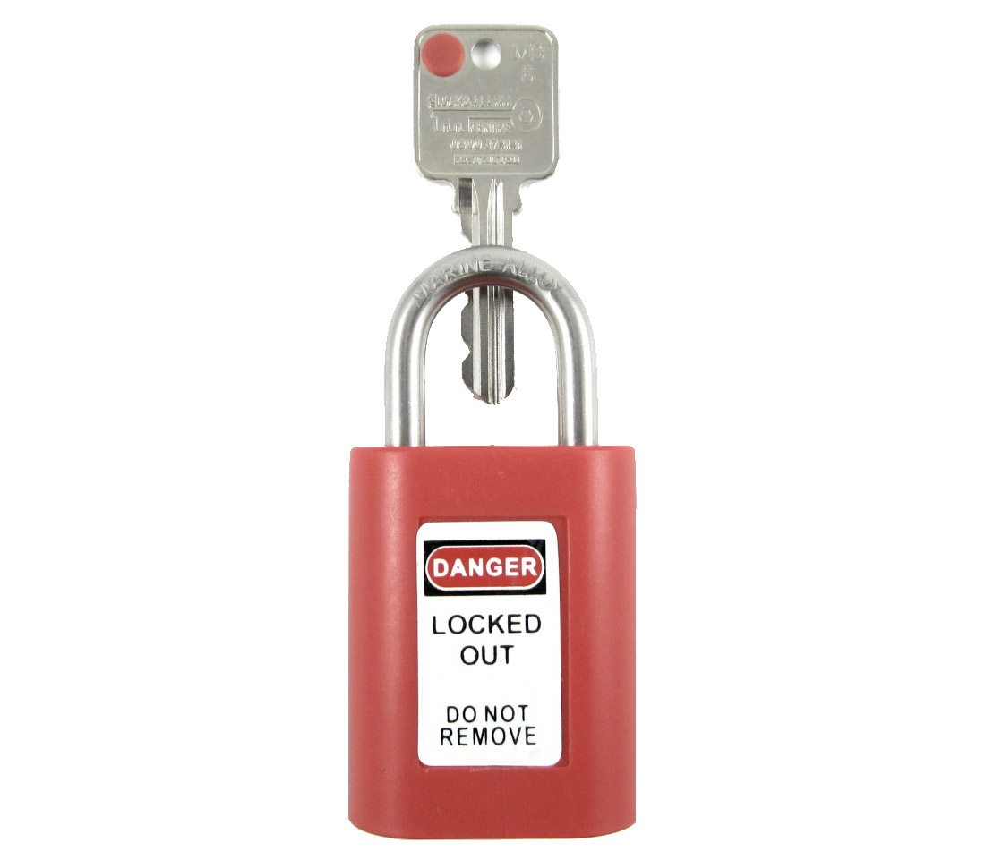 Safety Lockout Padlock - Lock and Alarm